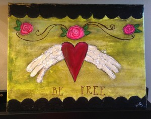 Be Free Heart wings
